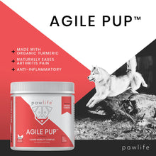 Load image into Gallery viewer, List of benefits for Agile Pup soft chews