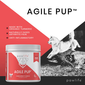 List of benefits for Agile Pup soft chews