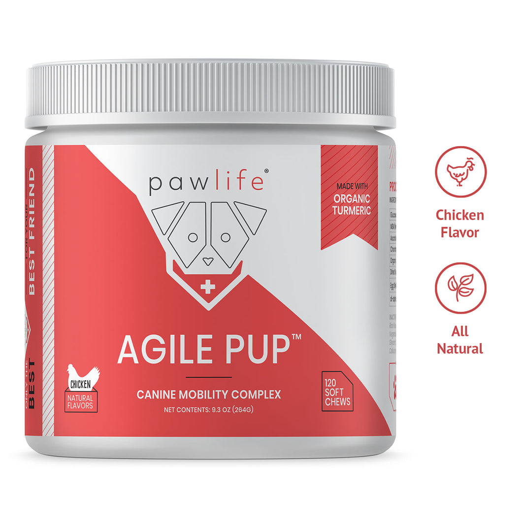 Agile Pup soft chews increase dogs mobility
