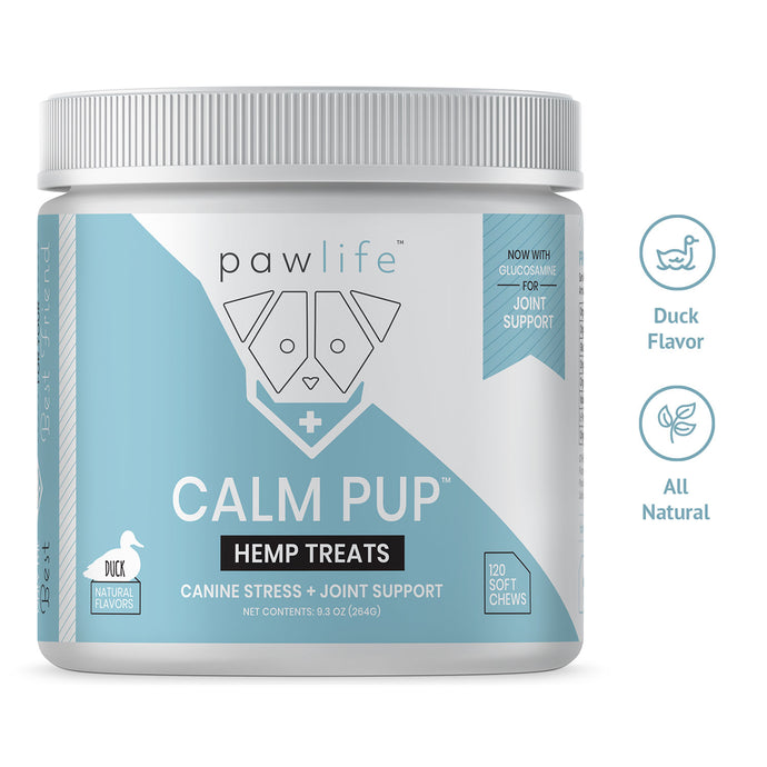 Calm Pup duck flavor soft chews with hemp for dogs