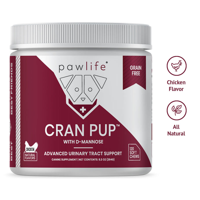 Cran Pup soft chews made for dog urinary tract support