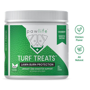 Turf Treats soft chews for dog lawn burn protection