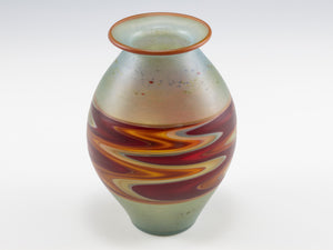 Light Green and Red Incalmo Vase 1902