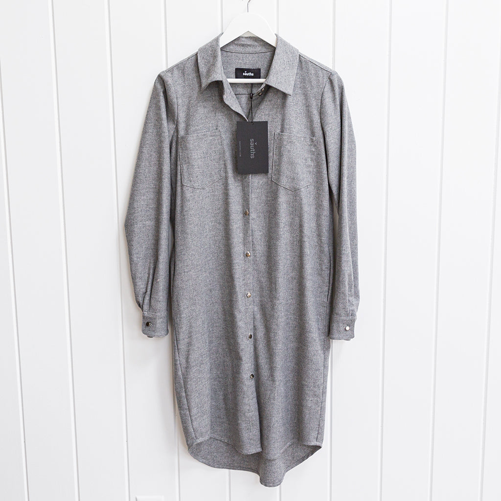 Sauths Grey Shirtdress Size S