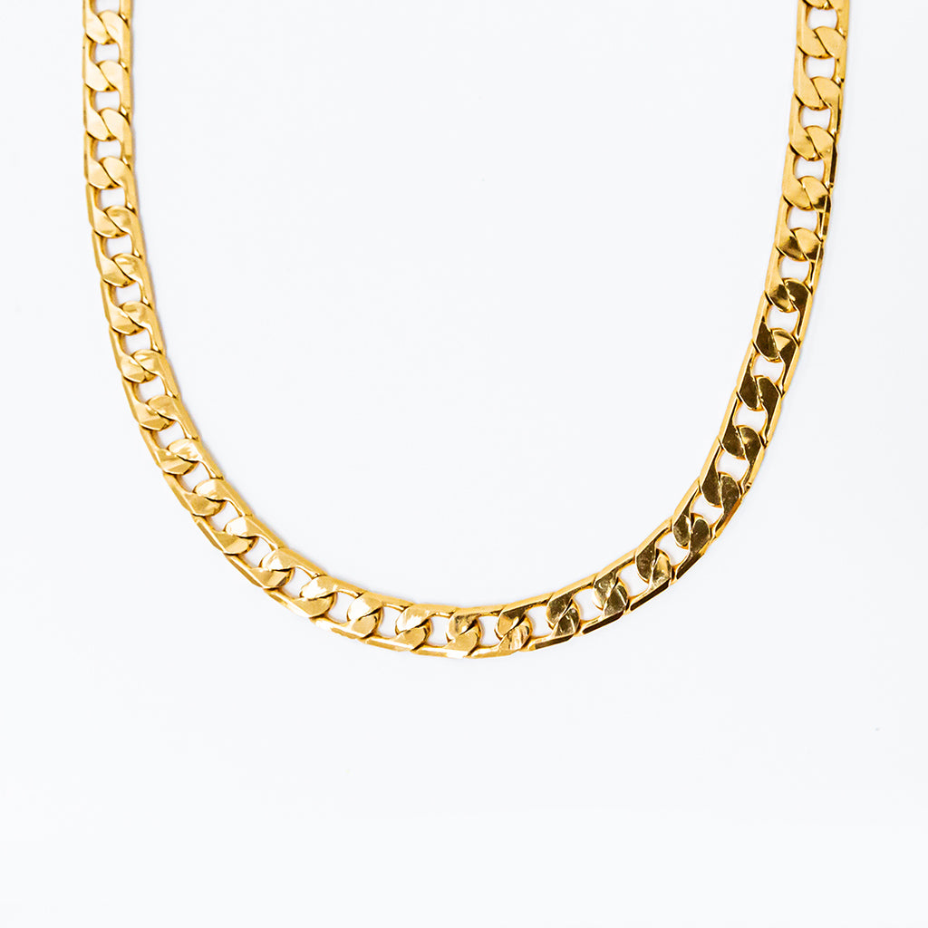 heritage link necklace in gold