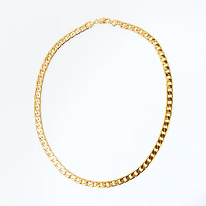 heritage link necklace in gold full