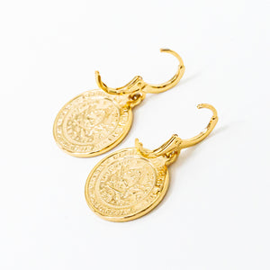 Aphrodite Coin Earrings
