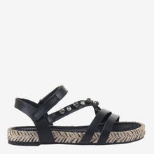 Load image into Gallery viewer, Arko in Black Flat Sandals