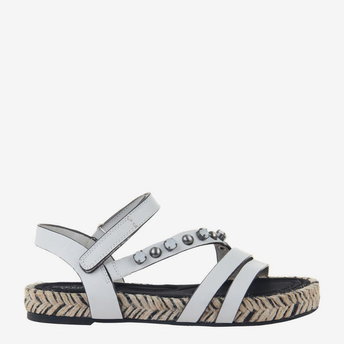 Arko in Dove Grey Flat Sandals