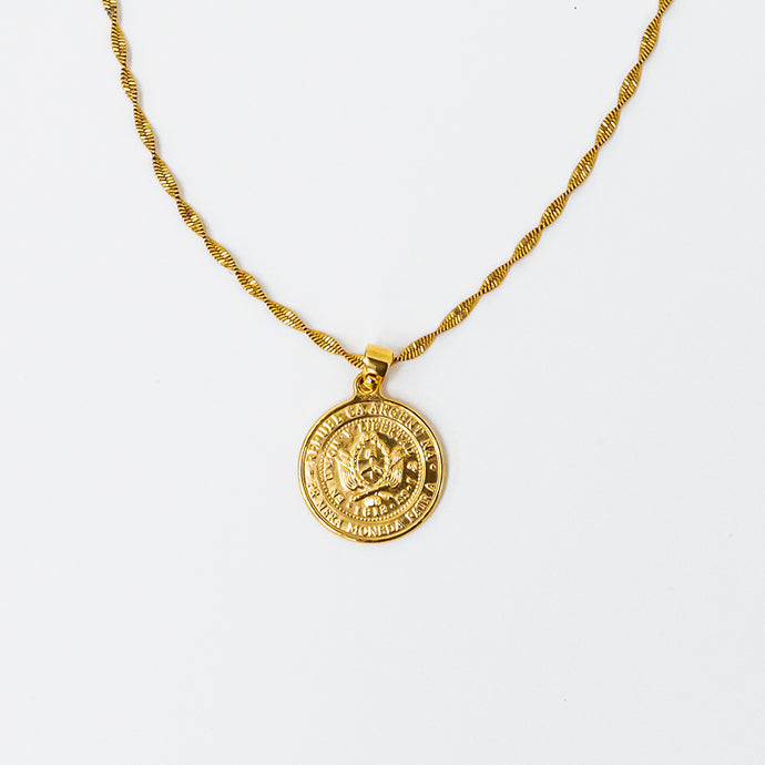 Athena Coin Pendant Necklace