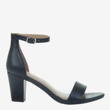Load image into Gallery viewer, Carpe Diem in Jet Black Heeled Sandals