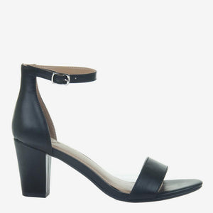 Carpe Diem in Jet Black Heeled Sandals