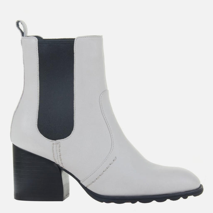 Club in Off White Mid-Shaft Boots