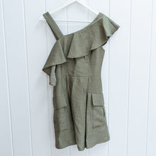 Load image into Gallery viewer, C/MEO Collective Khaki Green Cargo Dress Size S
