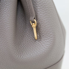 Load image into Gallery viewer, Dagne Dover Grey Pebble Leather Bucket Bag