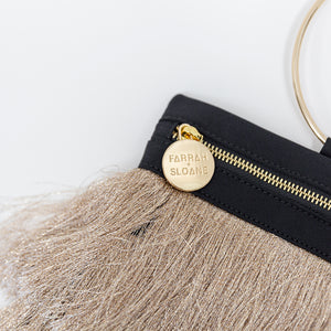 Farrah and Sloane Triple Gold Fringe Handbag