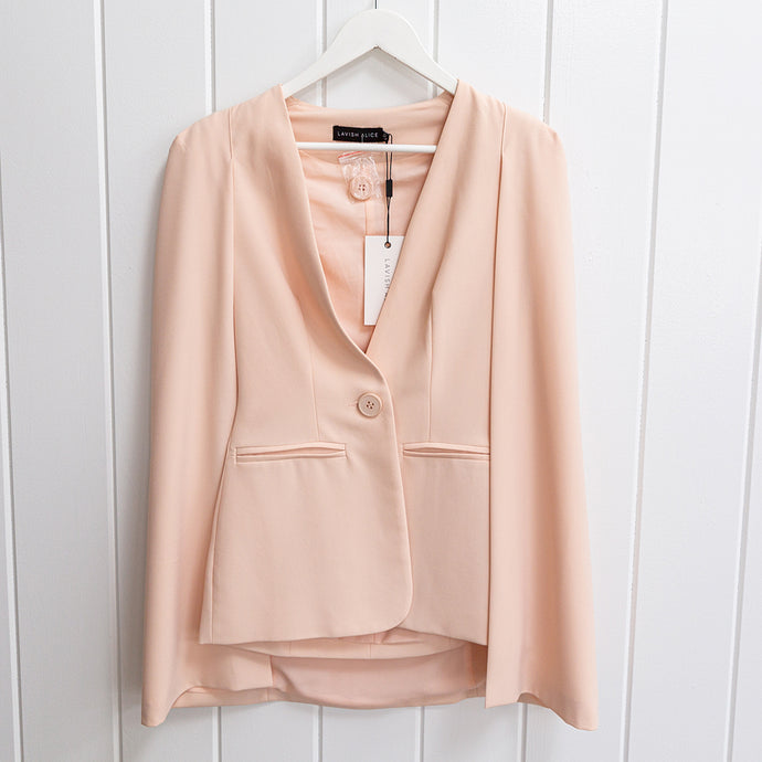 Lavish Alice Peachy Cape Blazer Size 2