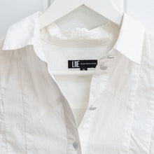 Load image into Gallery viewer, Lie Collection White Crop Blouse Size S