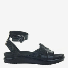 Load image into Gallery viewer, Limon in Black Wedge Sandals