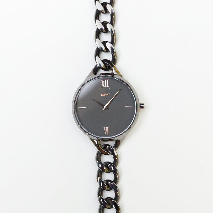 MVMT Gunmetal Chain Women's Watch