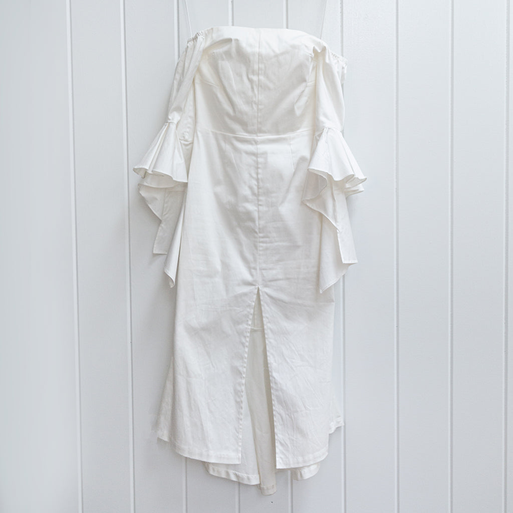 Premonition White Statement Sleeve Dress Size 2
