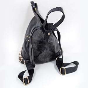 Sticks + Stones Leela Gold and Black Backpack