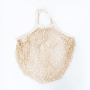 Mesh Fishnet Reusable Grocery Bag in Natural