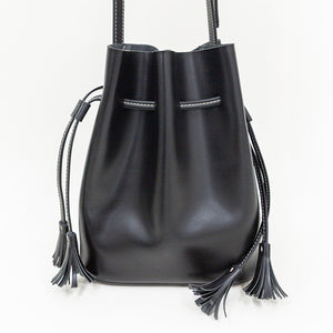 Unlabeled Leather Bucket Bag