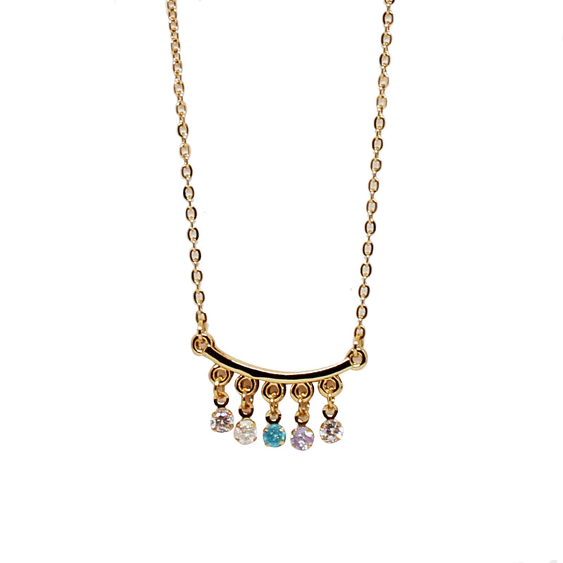 Collar piedras multicolor. (4496922574915)