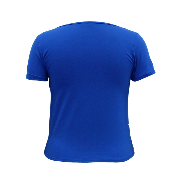 Playera con nudo lateral. (4491293163587)