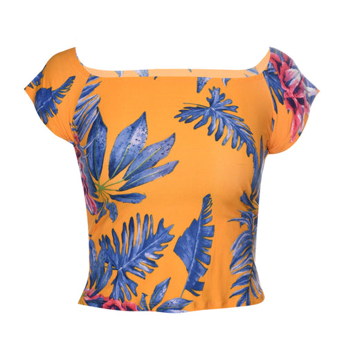 Playera estampado tropical. (4520102985795)