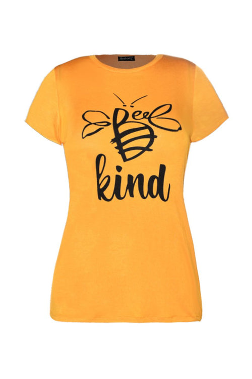 "Playera ""bee kind"" (4525809467459)"