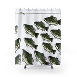 Largemouth Bass Shower Curtain