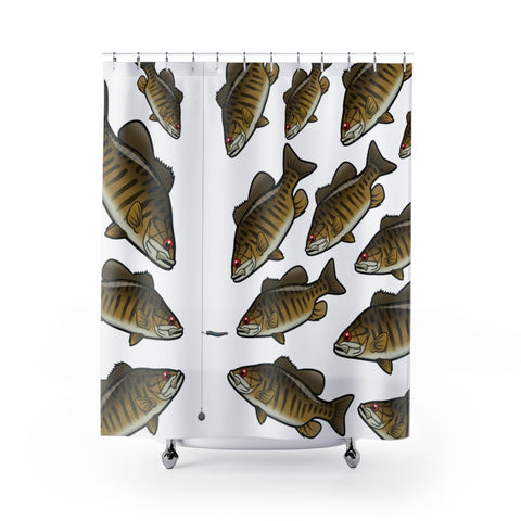 Smallmouth Bass Shower Curtain