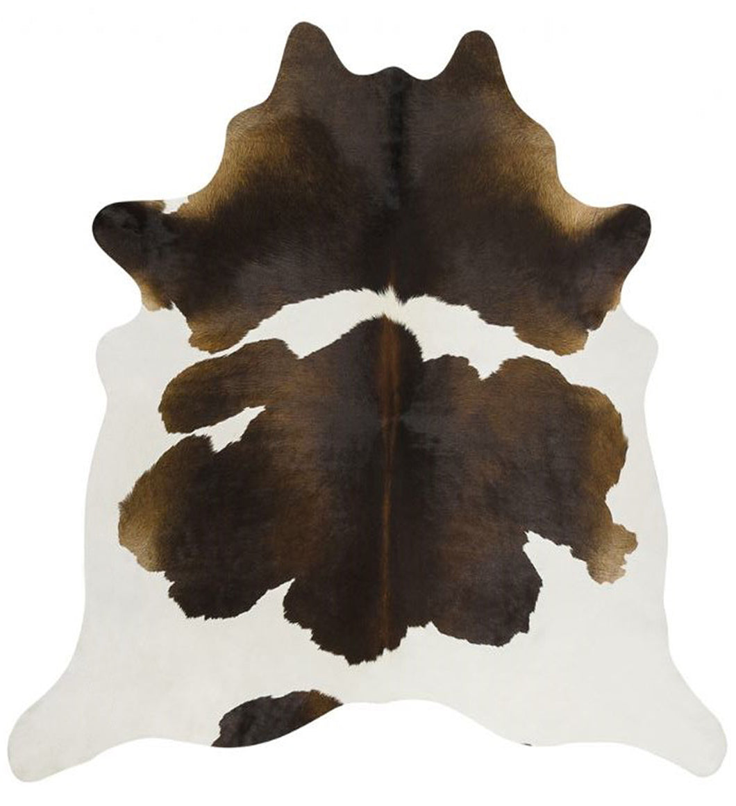 Brown Black White Brazilian Cowhide Rug