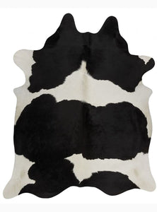 Black and White Brazilian Cowhide Rug