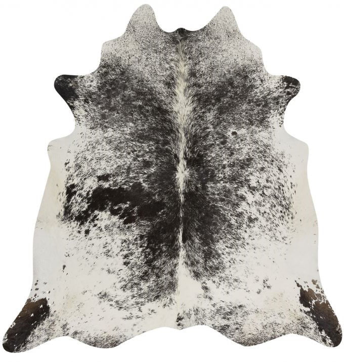 Black And White Salt and Pepper Brazilian Cowhide Rug