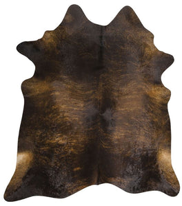 Dark Brindle Pattern Brazilian Cowhide Rug