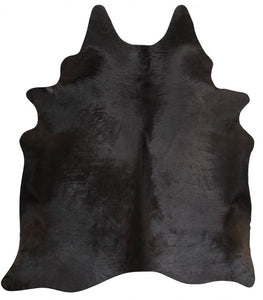 Black Brazilian Cowhide Rug
