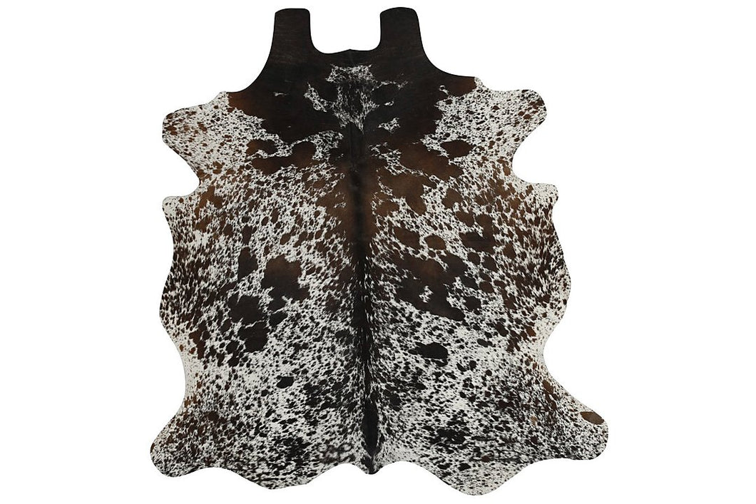 Brown Salt and Pepper Brazilian Cowhide Rug