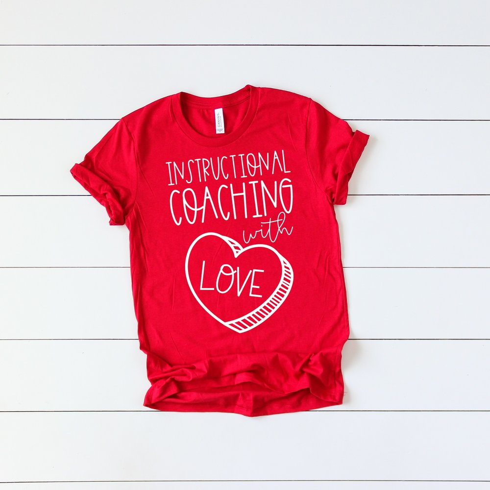 Instructional Coaching with Love Tee - Red