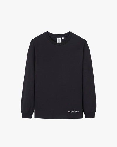 graphic wave logo long sleeve t-shirt black