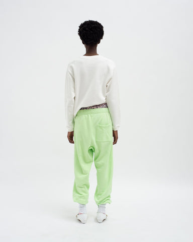 Mens track pants paradise green