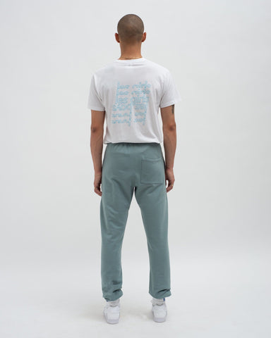 Loose fit track pants stormy sea