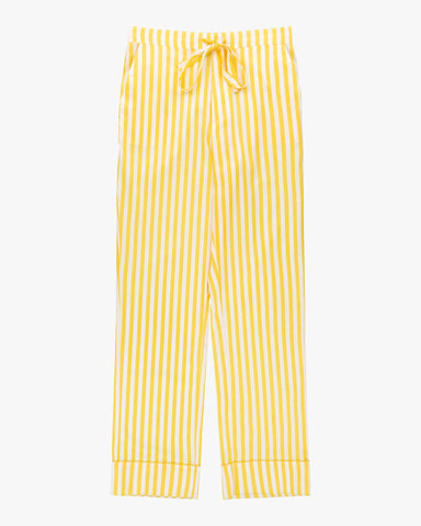 Striped classic cotton pyjama bottoms daffodil