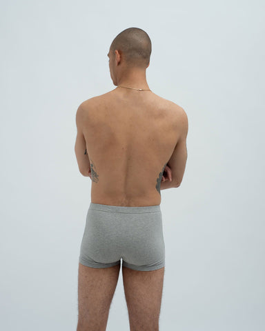 Cotton jersey trunks grey marl