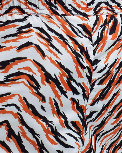 men's tiger print swim shorts