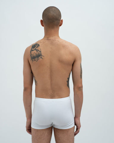 Cotton jersey trunks white