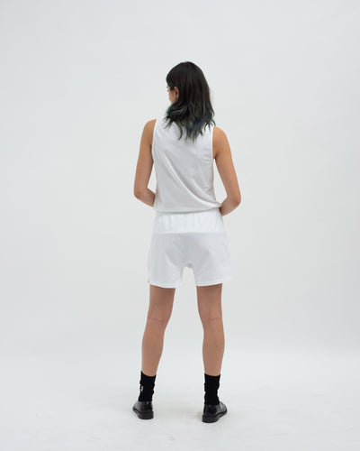 Cotton jersey tank top white