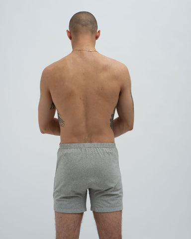 Cotton jersey boxers grey marl
